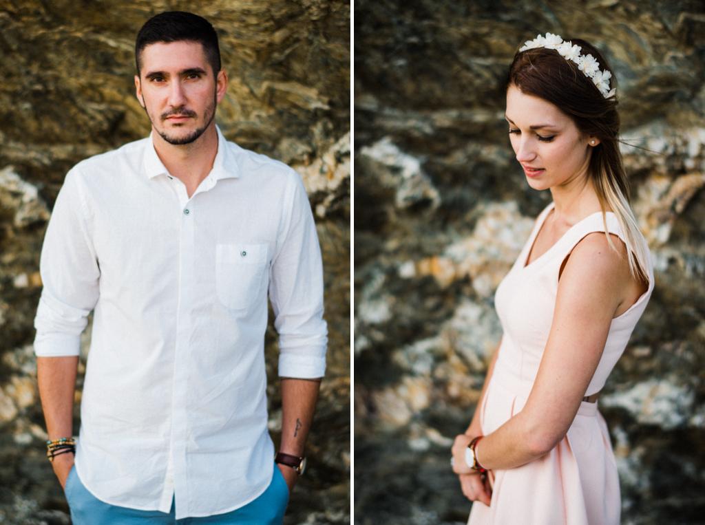 Seance engagement Coralie Jonathan Le Brusc en Provence